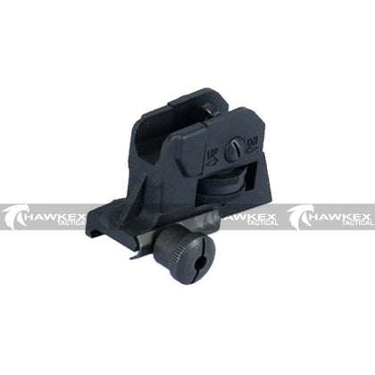 CQB-R Type QD Adjustable Rear Sight For M4 M16 Series Gelball Rifles - Hawkex Tactical