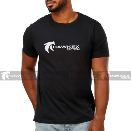 Hawkex Tactical Black Cotton Store Support Shirt - Hawkex Tactical