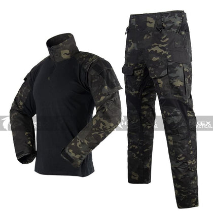 Ht3 Combat Uniform Set - Multicam Black