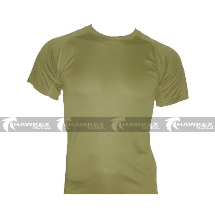 HUSS Tactical Khaki Quick Dry Under Shirt