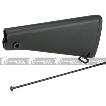 M16 Style Fixed Stock with QD Mount for M4 M16 Gelball Blasters - Hawkex Tactical