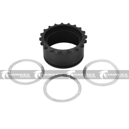 M4 / M16 Full Metal Barrel Nut w/ Washers - Hawkex Tactical