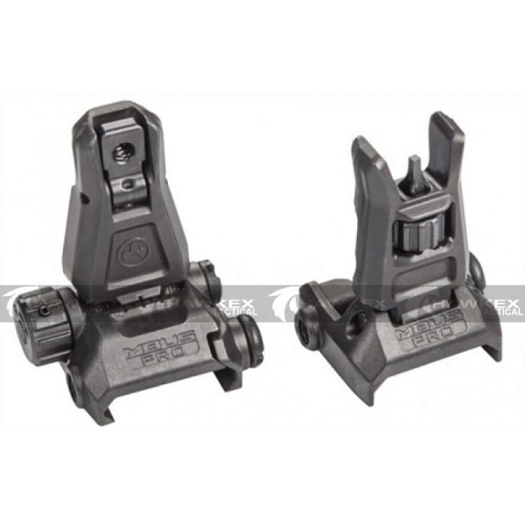 Magpul Style Black MBUS Pro Metal Back-Up Sight Set Front & Rear