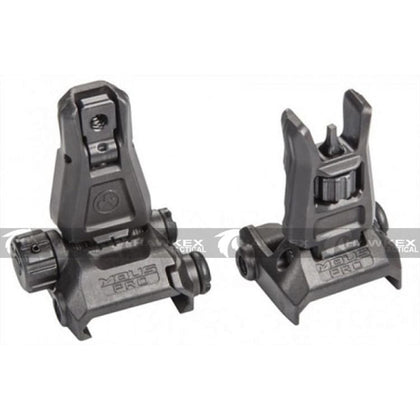 Magpul Style Black MBUS Pro Metal Back-Up Sight Set Front & Rear - Hawkex Tactical