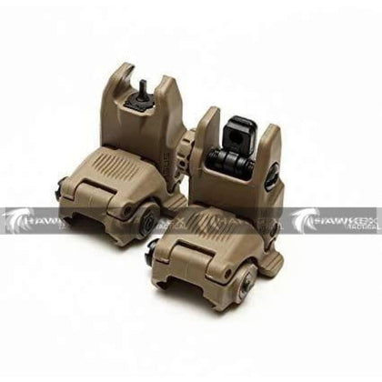 Magpul Style MBUS Sight Set GEN 2 Color Flat Tan Front & Rear Included - Hawkex Tactical