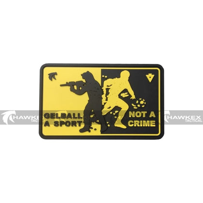 Sport Not Crime Gelball Supporter Patch - Hawkex Tactical