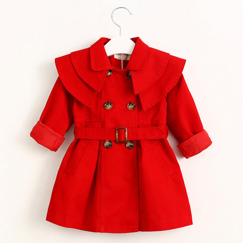 Red Trench Coat - MaisonMarys