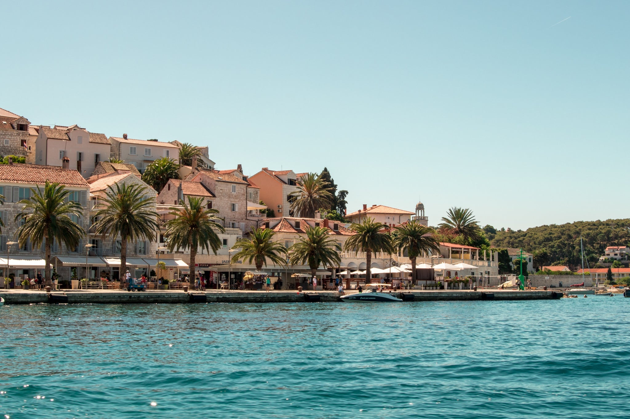 Hvar, Croatia. A small island off the coast of Split in the Adriatic Sea. Barrels of London