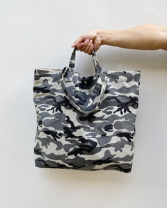 Grey Camo Canvas XL Tote