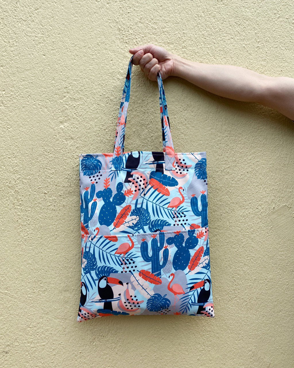 Double Pocket Tote - Tropica