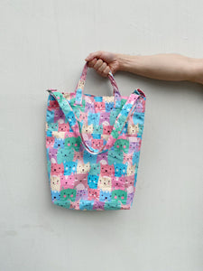 Handy Sling - Pastel Cartoon Cat Print