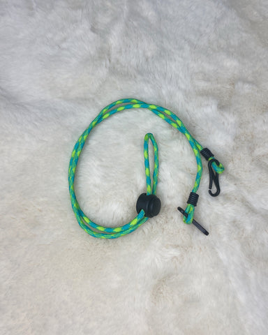 Paracord Neck Strap (green/yellow)