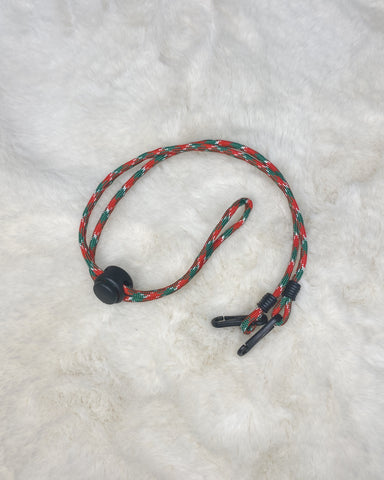 Paracord Neck Strap (green/red)