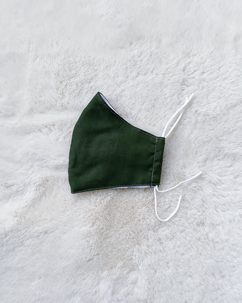 Reusable Mask - Cotton (Olive Green) SLOT IN