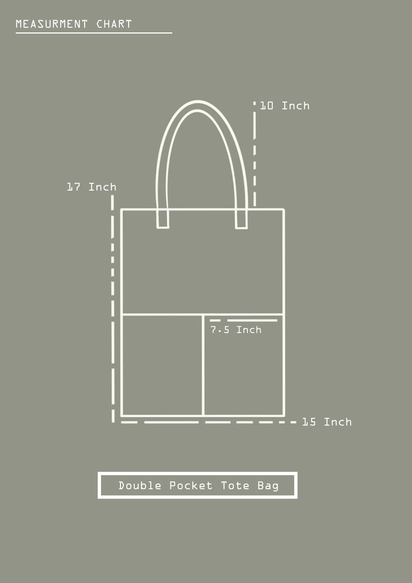 Double Pocket tote - electronics fun