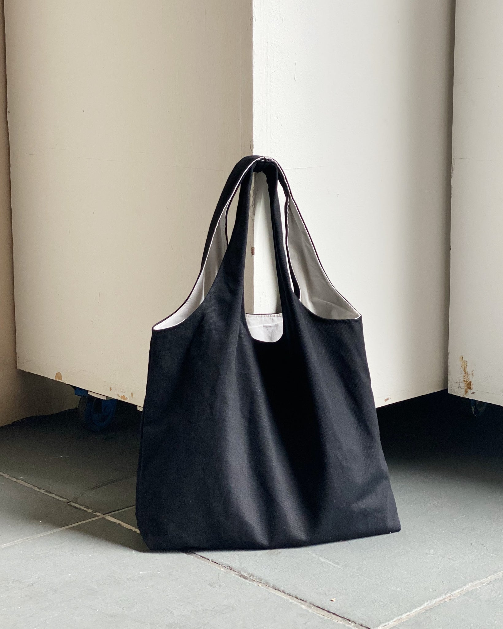 Shopper Tote - Black (Canvas)