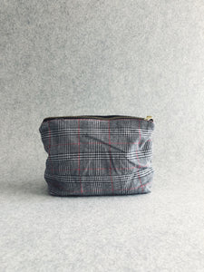 Checkered Cotton Pouch