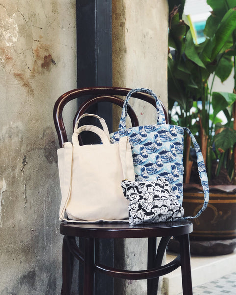 Mini/Small Sling Tote - Japan Wave
