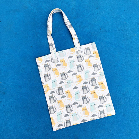 Double Pocket Tote - Cloudy Cat