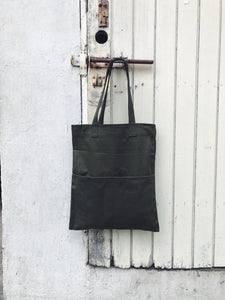 Double Pocket Tote - Dark Grey