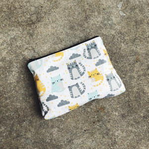 Cloudy Cat Canvas Pouch