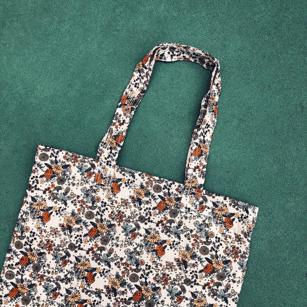 Double Pocket Tote - Oriental Flower
