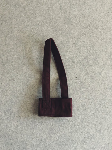 Reusable Canvas Cupholder (Maroon)