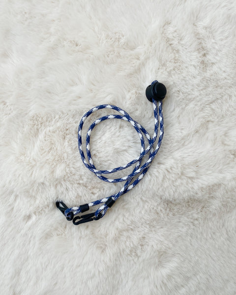 Paracord Neck Strap (Blue/White)