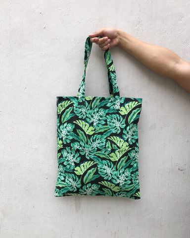 Double Pocket Tote - Fauna Print