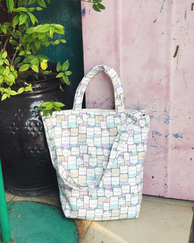 Mini/Small Sling Tote - Pastel Neko Pan