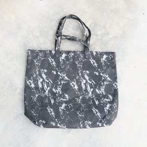 XLarge Tote Bag - Black Marble