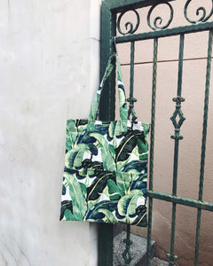 Double Pocket Tote - Tropical paradise