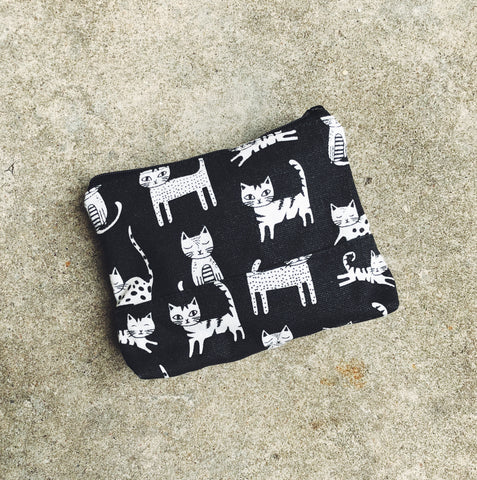 Black Cats Canvas Pouch