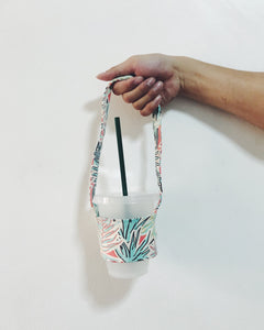 Reusable Canvas Cupholder (Summer Floral)