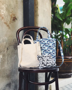 Mini Sling Tote - White