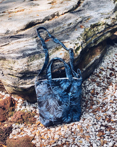 Mini/Snall Sling Tote - Midnight floral