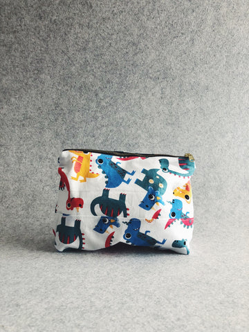 Cartoon Dino Cotton Pouch