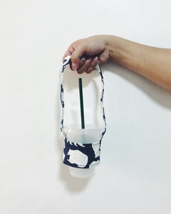 Reusable Canvas Cupholder (Navy Polar Bear)