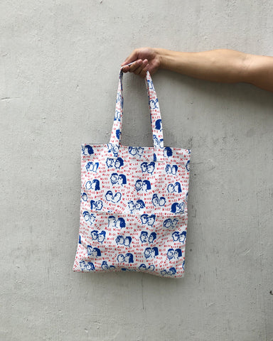 Double Pocket Tote - Love is love