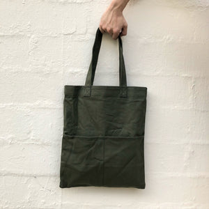 Double Pocket Tote - Olive