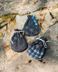 Drawstring Pouch (Small) - Japanese Cotton Patchwork Print