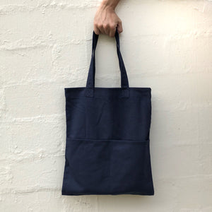 Double Pocket Tote (Canvas) Navy