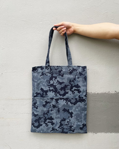 Double Pocket Tote - Navy Camo (Canvas)