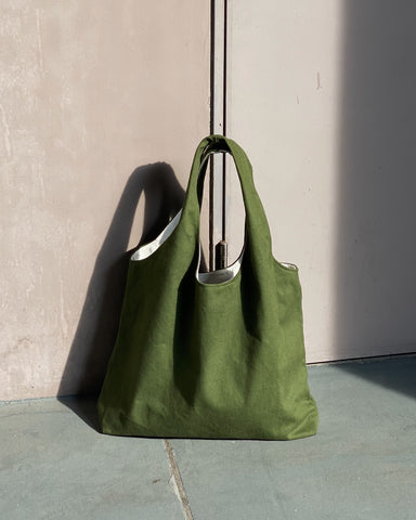 Shopper Tote - Olive (Canvas)