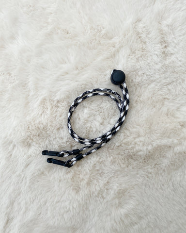 Paracord Neck Strap (Black/White)