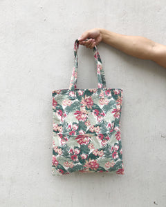 Double Pocket Tote - Floral Garden