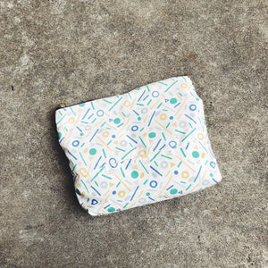 Geometry Patterned Cotton Pouch