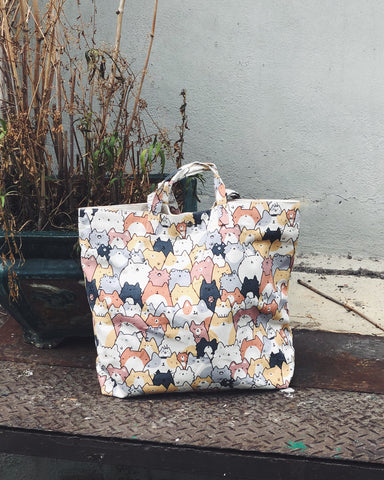 Orange Neko XL Tote