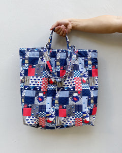 Japanese Patchwork Icons XL Tote (Water Repellent)