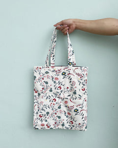 Double Pocket Tote - Patterned Canvas
